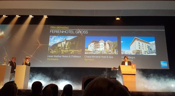 "Award ""Prix Bienvenu"" for Chasa Montana Hotel & Spa"